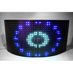 Circular Interactive LED Dj Booth (facade) 4 PANELS