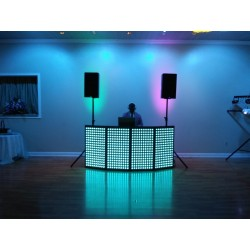 Small Size Rectangular 4 Panels Interactive LED Dj Booth (facade)