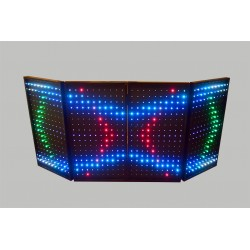 Rectangular 4 Panels Interactive LED Dj Booth (facade)